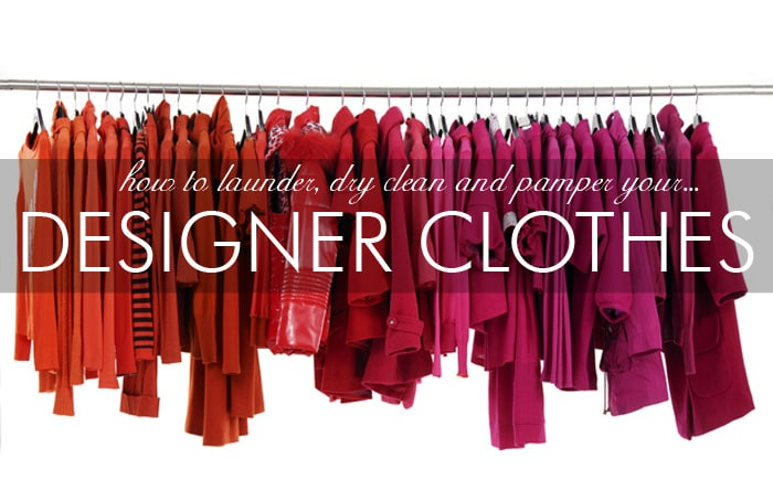 cleaning designer clothes