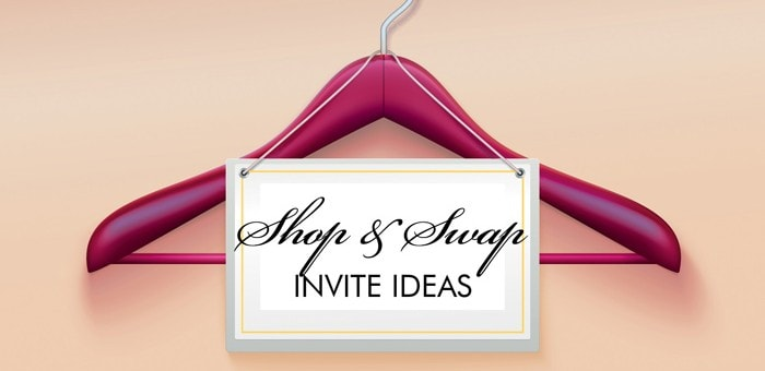 clothing swap party invitations